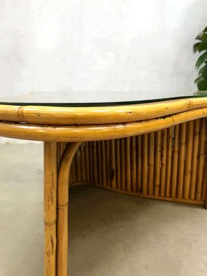 Delicieux Vintage French Bamboo Coffee Table 3