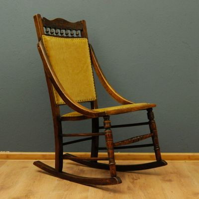 Small Vintage Swedish Rocking Chair 1