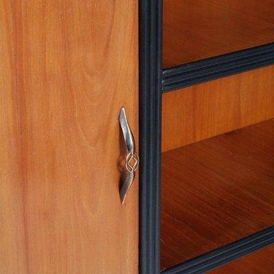 Cherrywood Bookcase With 2 Doors By Guglielmo Urlich For Arca Mi, 1940s 3