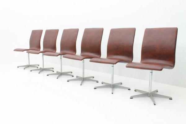 Oxford Chairs von Arne Jacobsen für Fritz Hansen, 1960er, 6er Set ...