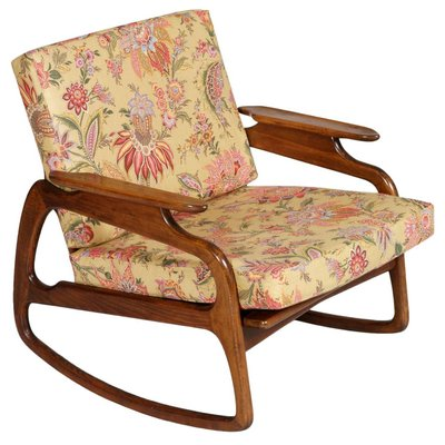 Walnut Rocking Chair By Adrian Pearsall 1950s 1