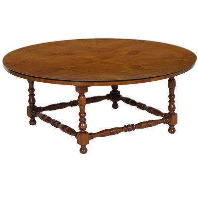 Tavolo rotondo in noce, anni \'30 in vendita su Pamono