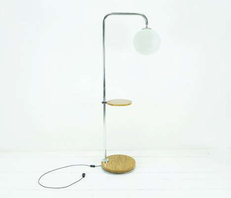 Bauhaus Arched Lamp With Table From Mücke Melder, 1930s 1