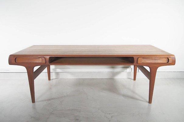 Grande Table Basse Scandinave Moderne En Teck 1960s En Vente Sur Pamono
