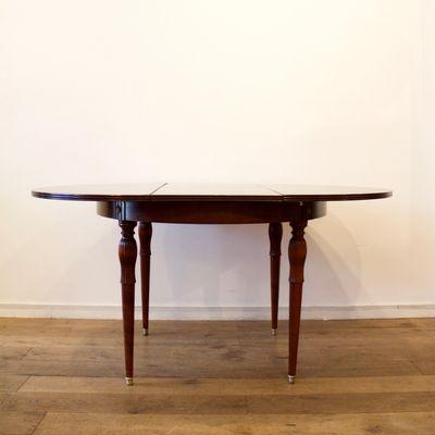 Runder Ausziehbarer Tisch, 1950er 2