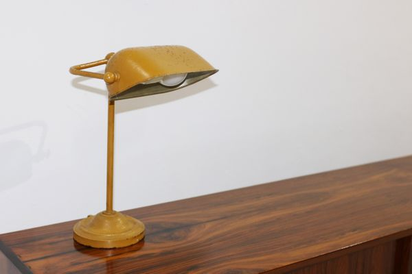 Vintage Danish Yellow Metal Table Lamp 1