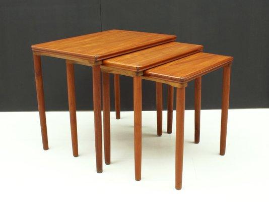 Danish Teak Nesting Tables By E W Bach For Mobelfabrikken Toften