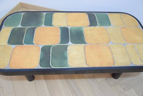 Peachy Vintage Shogun Coffee Table With Ceramic Top By Roger Capron Caraccident5 Cool Chair Designs And Ideas Caraccident5Info