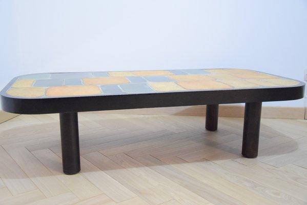 Phenomenal Vintage Shogun Coffee Table With Ceramic Top By Roger Capron Spiritservingveterans Wood Chair Design Ideas Spiritservingveteransorg