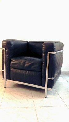 LC2 Leder Sessel von Le Corbusier für Cassina, 1970er