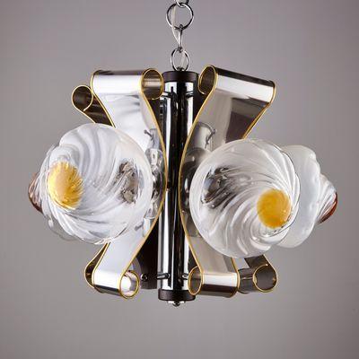 con Lámpara cristal 70 lucesaños cinco de colgante Murano de eEI9WbHD2Y