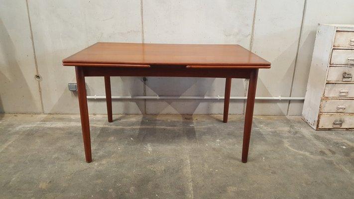 Vintage Teak Extendable Dining Table, 1960s 1