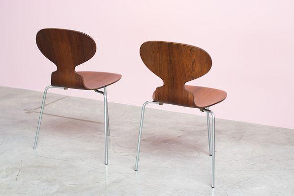 Mid Century Palisander Ant Chairs Von Arne Jacobsen Für Fritz Hansen