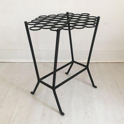 Tavolino vintage in ferro battuto, anni \'60 in vendita su Pamono