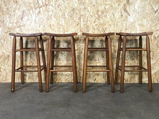 Vendita Sgabelli Da Bar In Legno : Sgabelli da bar mid century in legno e plastica set di in