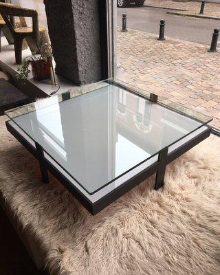 Table Et Métal Basse En Vintage Verre zMSpqVUG
