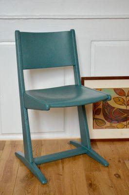 Chaise DEnfant Bleue 1960s 1