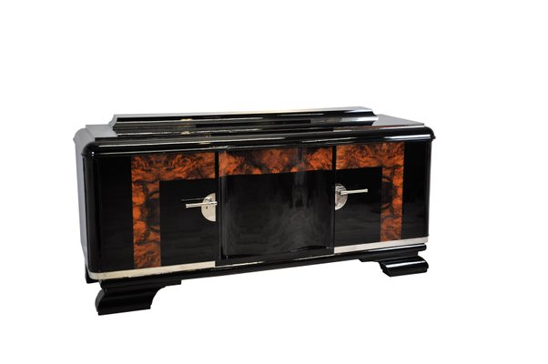 Large Art Deco Buffet With Burl Details For Sale At Pamono