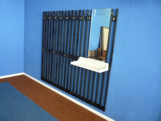 German Wall Mounted Coat Rack With Shelf Mirror 1966 For Sale At