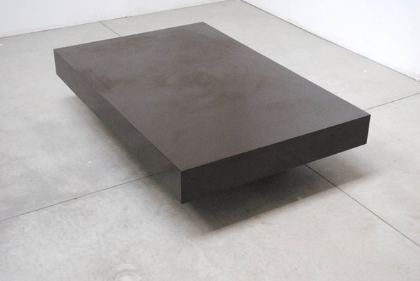 Table Basse Willy Rizzo.Large Italian Lacquered Wood Coffee Table By Willy Rizzo 1970s
