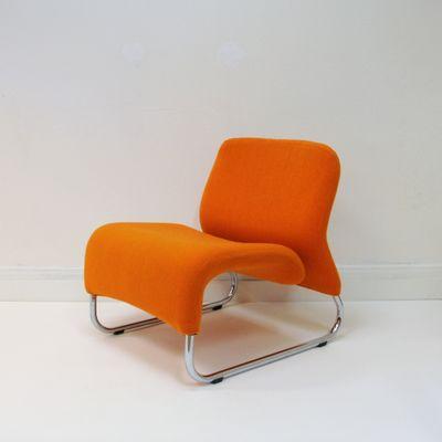Orange Ecco Lounge Chair By Møre Design Team For Hjelle Møbelfabrikk 1971 1