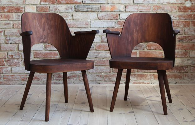 Super Beechwood Model 1515 Dining Chairs By Lubomir Hofmann For Ton 1960S Set Of 2 Pabps2019 Chair Design Images Pabps2019Com