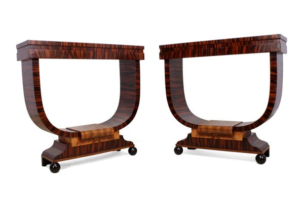 Gentil Italian Art Deco Console Tables, 1930s, Set Of 2 2