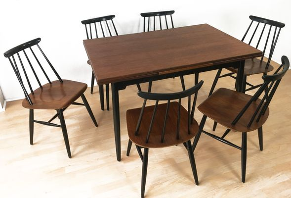 Esstisch 6 Stuhle Von Ilmari Tapiovaara Fur Asko 1960er Bei