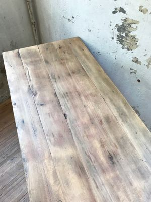 Charmant Vintage Farmhouse Table In Beech 14