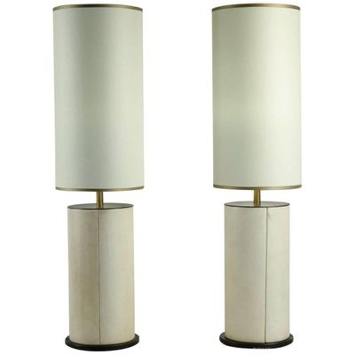 Parchment bronze table lamps 1940s set of 2 for sale at pamono parchment bronze table lamps 1940s aloadofball Image collections