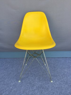 Vintage Yellow Fiberglass Chairs By Charles U0026 Ray Eames For Herman Miller,  ...