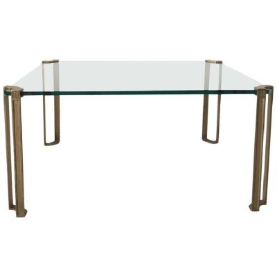 Glass Brass Coffee Table By Peter Ghyczy 1970s For Sale At Pamono