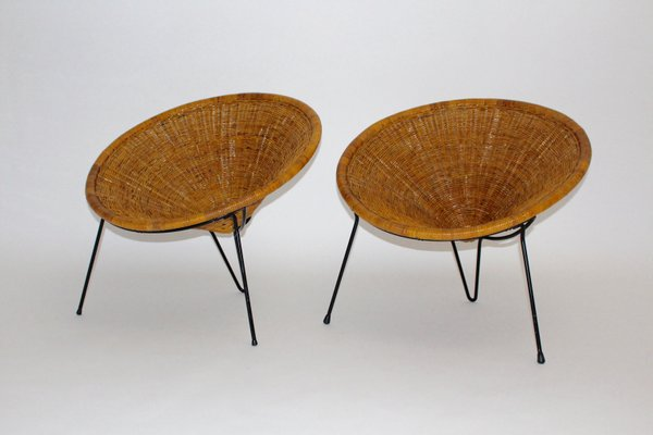 Magnificent Rattan Side Chairs By Roberto Mango 1950S Set Of 2 Camellatalisay Diy Chair Ideas Camellatalisaycom