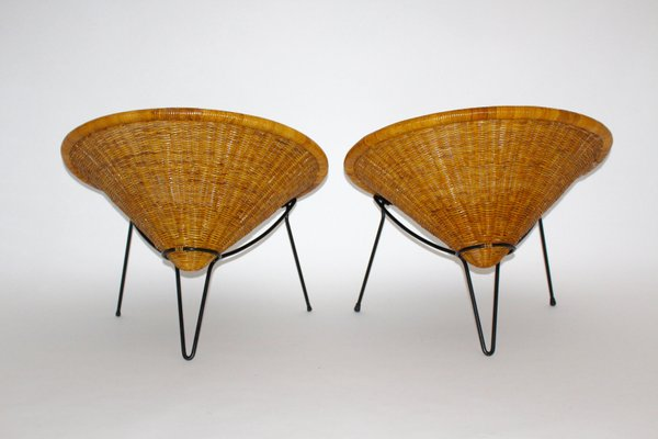 Fantastic Rattan Side Chairs By Roberto Mango 1950S Set Of 2 Camellatalisay Diy Chair Ideas Camellatalisaycom