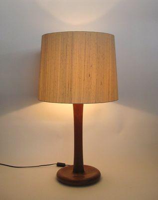 Gentil Large Vintage Danish Teak Table Lamp From Dyrlund 2