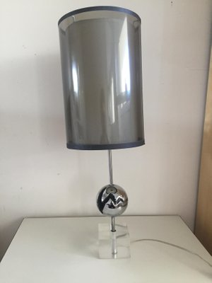 Stainless Steel Table Lamp, 1970s 1