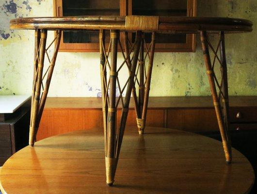 Mid Century Bambus Garten Tisch In Blattform Bei Pamono Kaufen