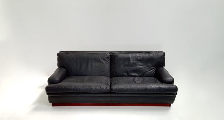 Merkur Black Leather 3-Seater Sofa by Arne Norell, 1960s for sale at ...