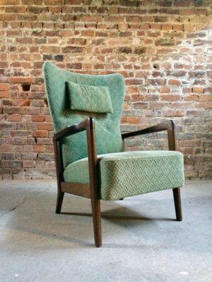 high wing back lounge chair by soren hansen for fritz hansen 1950s