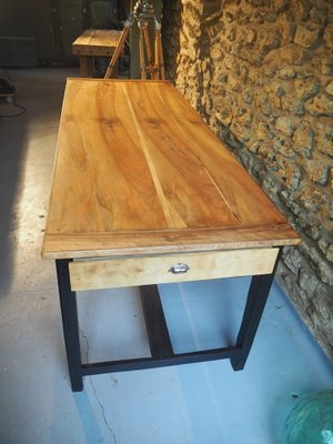 oak farmhouse dining table 1950s for sale at pamono