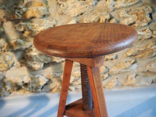 Sgabello da laboratorio in legno anni in vendita su pamono