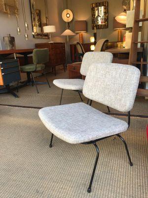 slipper chairs by daciano da costa for metalurgica da longra 1960s