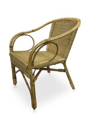 French Bamboo U0026 Rattan Armchair, 1960s 2