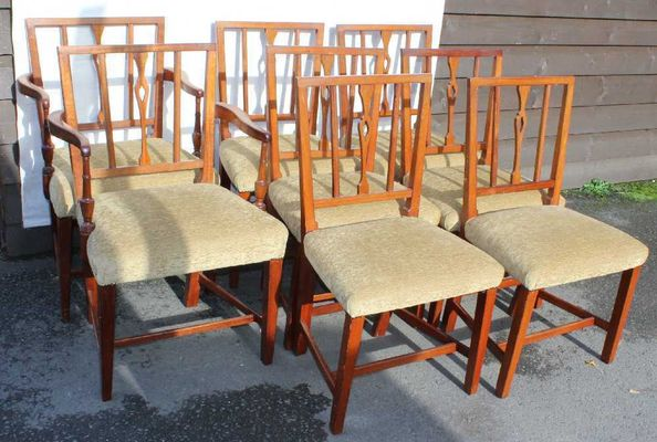 764b30b85edce Georgian Mahogany Dining Chairs