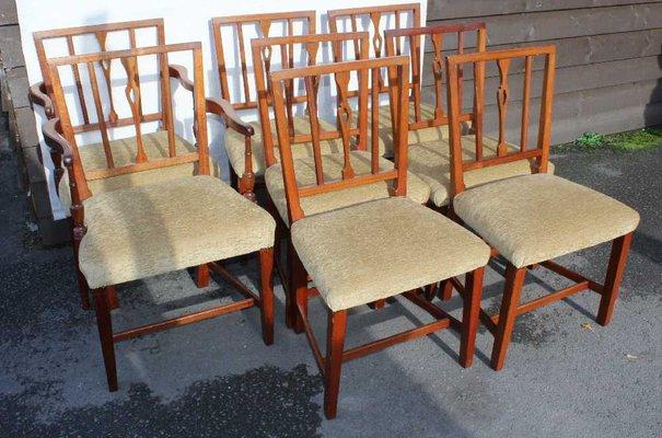 Georgian Mahogany Dining Chairs, Set of 8
