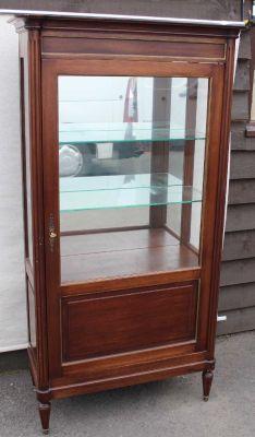 meuble 1 porte style louis xvi en noyer 1920s 1