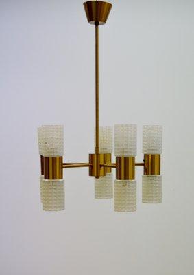 Fest brass glass chandelier from ikea 1960s for sale at pamono fest brass glass chandelier from ikea aloadofball Gallery