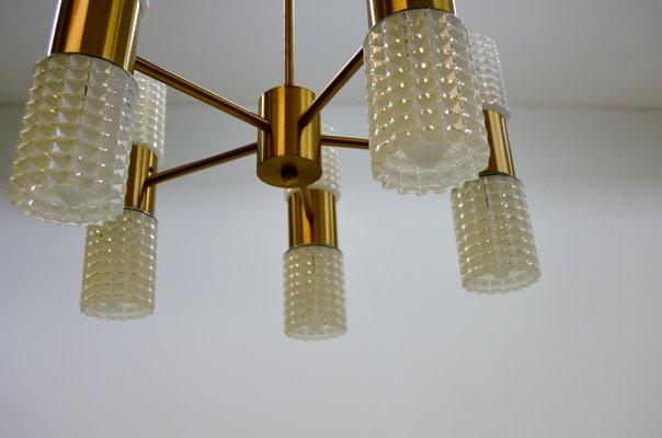Ikea Kronleuchter Gold ~ Fest messing & glas kronleuchter von ikea 1960er bei pamono kaufen