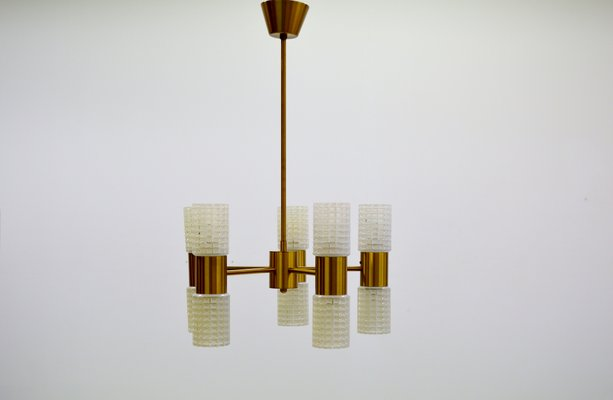 Fest Brass Glass Chandelier From Ikea 1960s