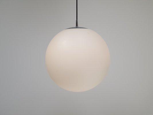 Large Globe Opaque Pendant Light From Peill Putzler 1970s